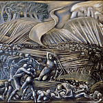 Edward Burne-Jones -- Flodden Field, Part 6 Louvre