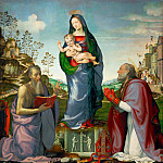 Mariotto Albertinelli -- Madonna and Child with Saints Jerome and Zenobius, Part 6 Louvre