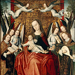 Part 6 Louvre - Master of the Embroidered Foliage -- The Virgin and Child surrounded by angels