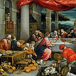 Leandro Bassano -- Wedding at Cana, Part 6 Louvre