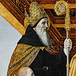 Part 6 Louvre - Ambrogio Bergognone (c. 1460-1523) -- Saint Augustine and Kneeling Donor
