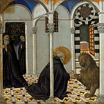 Part 6 Louvre - Sano di Pietro (1405-1481) -- Saint Jerome and the Lion
