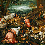Part 6 Louvre - Jacopo Bassano il Vecchio (c.1510-1592) -- Animals Entering Noah's Ark