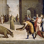 Domenico Beccafumi -- Saint Anthony of Padua and the Miracle of the Mule, Part 6 Louvre