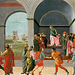 Filippino Lippi -- Three scenes from the life of Virginia, Part 6 Louvre