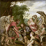 Rubens, Peter Paul -- De verzoening van Jacob en Ezau, 1600-1699, Rijksmuseum: part 1