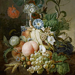 Rijksmuseum: part 1 - Morel, Jan Evert (I) -- Stilleven met bloemen en fruit, 1800 - 1808
