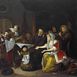 Het Sint Nicolaasfeest., 1685, Richard Brakenburgh