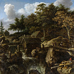 Unknown artist -- Zweeds landschap met waterval, 1650-1675, Rijksmuseum: part 1