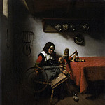 Maes, Nicolaes -- De spinster, 1650-1660, Rijksmuseum: part 1