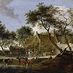 Ruysdael, Salomon van -- Pleisterplaats, 1660, Rijksmuseum: part 1