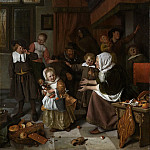 Het Sint Nicolaasfeest, 1665-1668, Jan Havicksz Steen