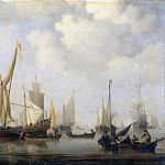 Velde, Willem van de -- Windstilte, 1650-1707, Rijksmuseum: part 1