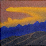 Roerich N.K. (Part 5) - Himalayas # 43 Golden cloud over blue ridge