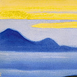 Roerich N.K. (Part 5) - Evening # 61 evening (evening mountain range in fog)