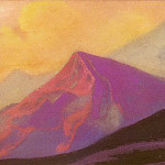 Roerich N.K. (Part 5) - The Himalayas # 13 Two peaks on a sunset background
