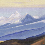 Roerich N.K. (Part 5) - Himalayas # 152 Glare of the pink light