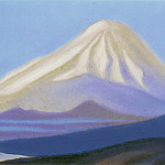 The Himalayas # 150 The snowy peak at dawn, Roerich N.K. (Part 5)