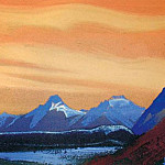 Himalayas # 7 Golden sky, Roerich N.K. (Part 5)