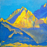 Roerich N.K. (Part 5) - Kanchenjunga # 181 Kanchenjunga (azure sky above the tops)