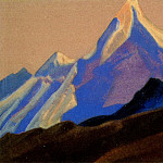 Roerich N.K. (Part 4) - The Himalayas # 24 The blue peak on the purple sky