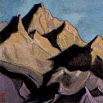 Roerich N.K. (Part 4) - The Himalayas # 206 The peaks at sunset