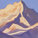 Roerich N.K. (Part 5) - The Himalayas # 110 The snowy massif at sunset