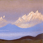 The Himalayas # 146 The snow at dawn, Roerich N.K. (Part 5)