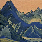 Roerich N.K. (Part 5) - The Himalayas # 216 Blue peaks at dawn