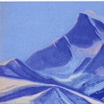 Roerich N.K. (Part 5) - Himalayas # 34 Blue peak at sunset