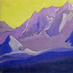 Roerich N.K. (Part 5) - The Himalayas # 142 The top on the golden sky