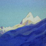 Roerich N.K. (Part 4) - Himalayas # 9 Snow Mountain over blue slope