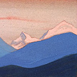 Roerich N.K. (Part 5) - Himalayas # 75 pink evening light