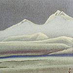 Roerich N.K. (Part 5) - Tibet # 85 (Noctilucent mountains in fog)
