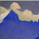 Roerich N.K. (Part 5) - Himalayas # 128 Illuminated cloud over dark rocks