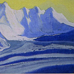Roerich N.K. (Part 5) - Himalayas # 56 Golden sky over glacier