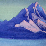 Roerich N.K. (Part 6) - Himalayas # 128 Rocky peaks in the rays of the setting sun