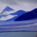 Roerich N.K. (Part 5) - Chumolhari # 64 Chomo-Lhare (Noctilucent clouds on mountains)