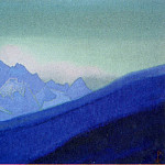 Roerich N.K. (Part 1) - Himalayas # 104 Mountain peak at dawn