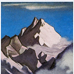 Roerich N.K. (Part 5) - The Himalayas # 208 The fog swirling near the pink top