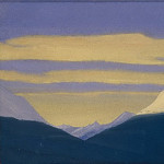 Roerich N.K. (Part 4) - The Himalayas # 86 Golden clouds on the purple sky