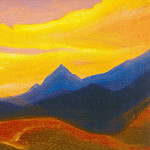 Roerich N.K. (Part 5) - Evening # 49 Evening (sunset colors)