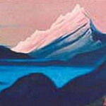 Roerich N.K. (Part 5) - The Himalayas # 155 The pink top above the fog