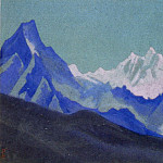 Roerich N.K. (Part 4) - The Himalayas # 18 The purple mountains against the background of the yellow sky