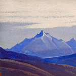 Roerich N.K. (Part 5) - Himalayas # 97 Blue peaks in the gray sky