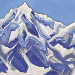 Roerich N.K. (Part 4) - Himalayas # 116 Mountain peak covered with snow