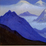 Roerich N.K. (Part 6) - 58 Blue # Himalaya mountains and mist