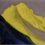 Roerich N.K. (Part 5) - Himalayas # 58 Snow, illuminated with golden light