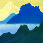 Roerich N.K. (Part 5) - Himalayas # 35 Golden peak in the olive sky