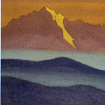 Roerich N.K. (Part 5) - Himalayas # 34 Mountains in blue mist